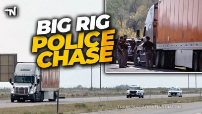 Big Rig Police Chase in Utah
