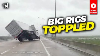 Big Rigs Toppled – Hurricane Sally Viral Video