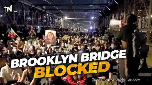 Brooklyn Bridge Blocked