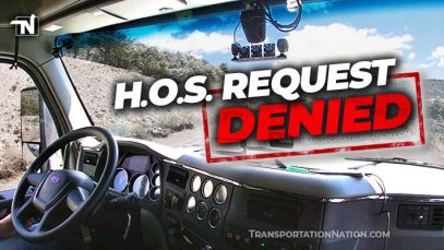 Pronto AI HOS Request Denied