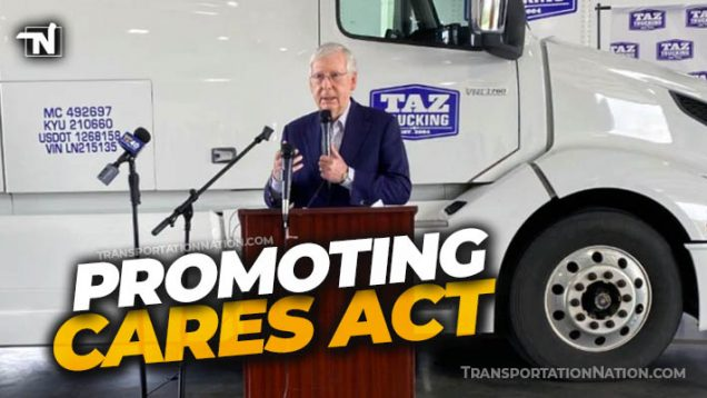 Sentator Mitch McConnell at Taz Trucking