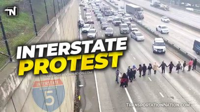 Interstate 5 Protest MLK Day Seattle