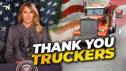 Melania Trump thanks truckers