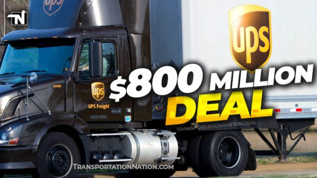 UPS Sold in $800 MILLION DEAL