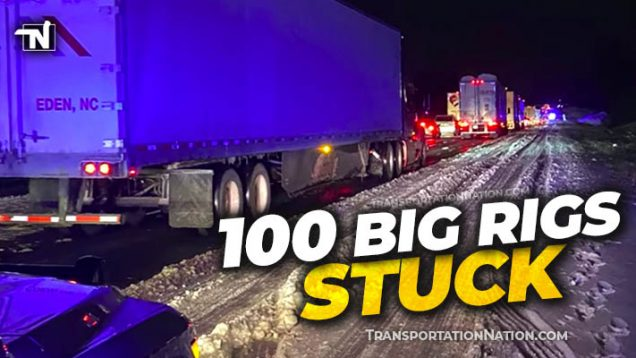 100 big rigs stuck in Louisiana