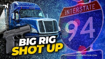 Big Rig Shot Up Interstate 94 Michigan