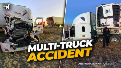 Multi Truck Accident in New Mexico