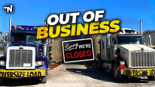 OUT OF BUSINESS trucking companies close down
