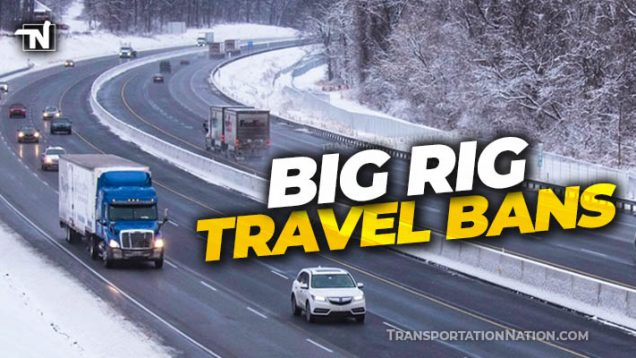 PA and NJ Big Rig Travel Ban