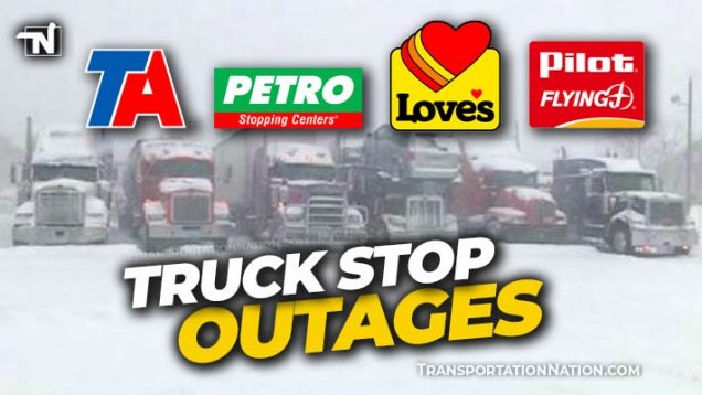 Truck Stop Outages Winter Storm Uri