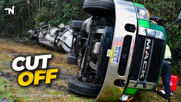 Trucker loses fingers in rollover accident