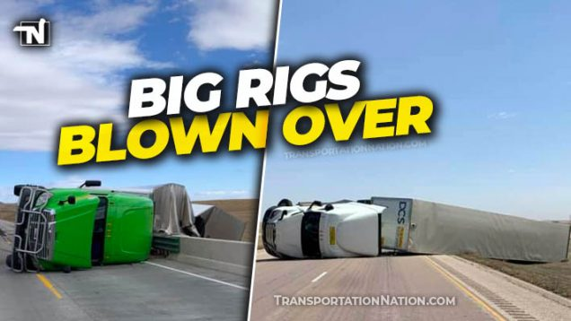 Big Rigs blown over in SD
