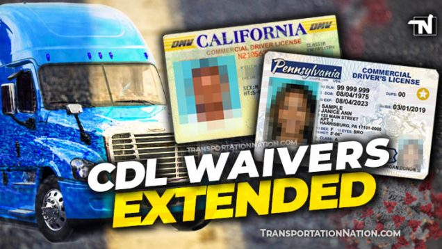 CDL Waivers Extended – COVID