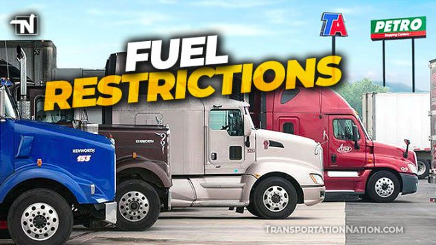 Fuel Restrictions at Truck Stops – Colonial Pipeline