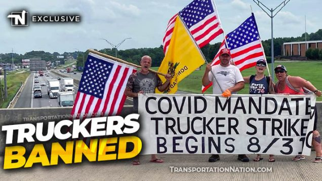 Truckers Banned for promoting pro-choice vaccine