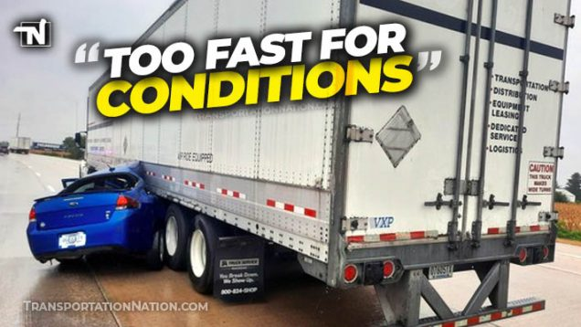 too fast for conditions