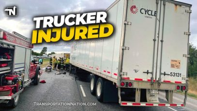 Truck Driver Flown From Crash Scene With Serious Injuries
